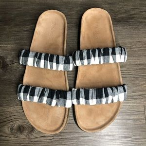 Madewell Plaid Sandals Size 11